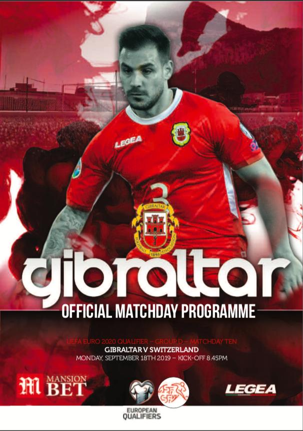 Gibraltar vs Switzerland Official Matchday Programme