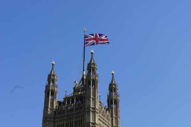 Union Jack Houses of Parliament